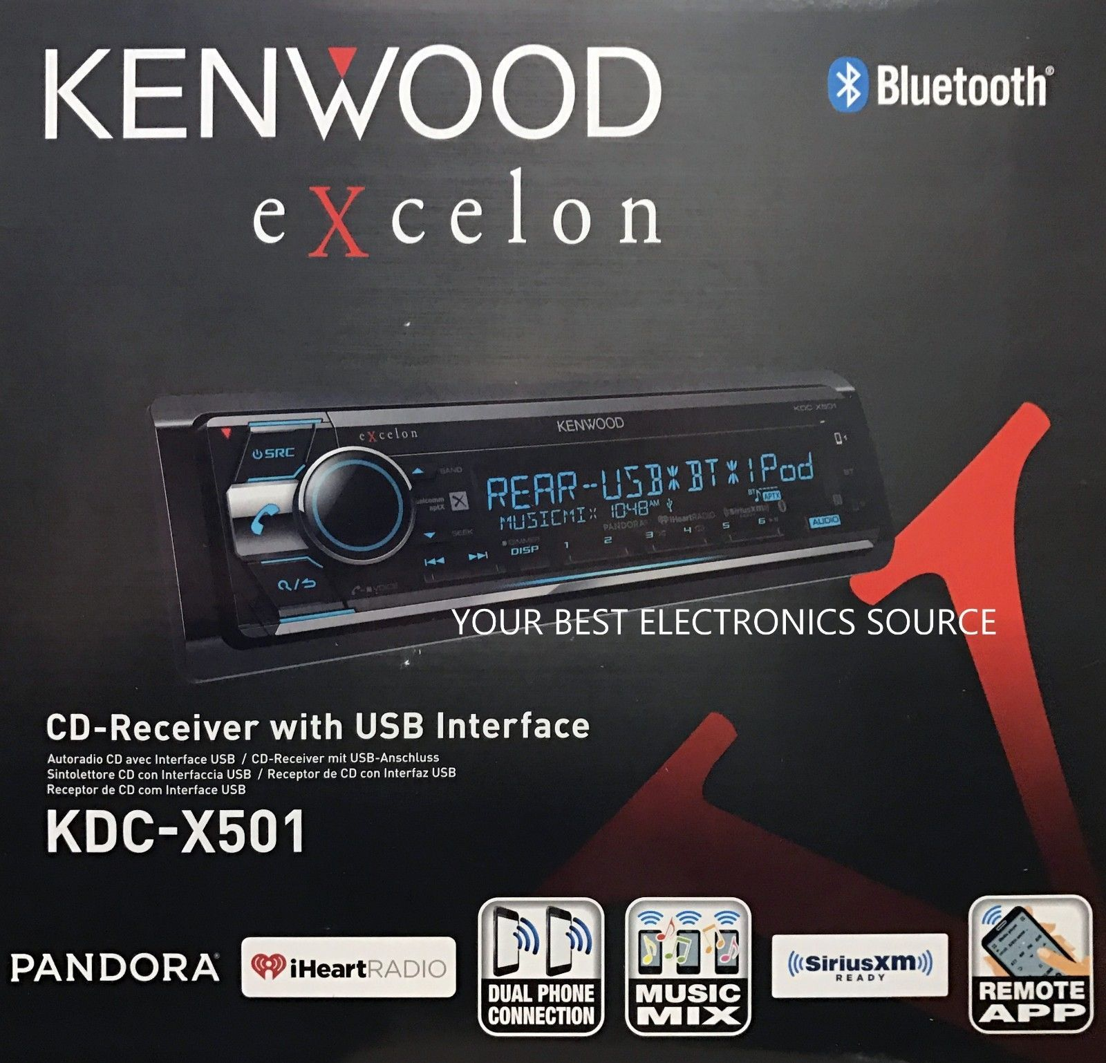 Car Audio In-Dash Units: New Kenwood Kdc-X501 Cd Receiver With Built ...