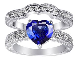 Check out this product http://wkup.co/cash_back/MTI1OTg5ODE5/MTIzNjU1NQ==Original Star K(tm) 8mm Heart Shape Created Sapphire Wedding Set $139.99