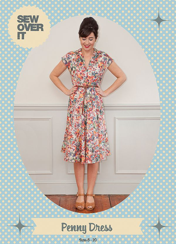 Penny Dress PDF Sewing Pattern: Sew Over It Online Fabric Shop ...