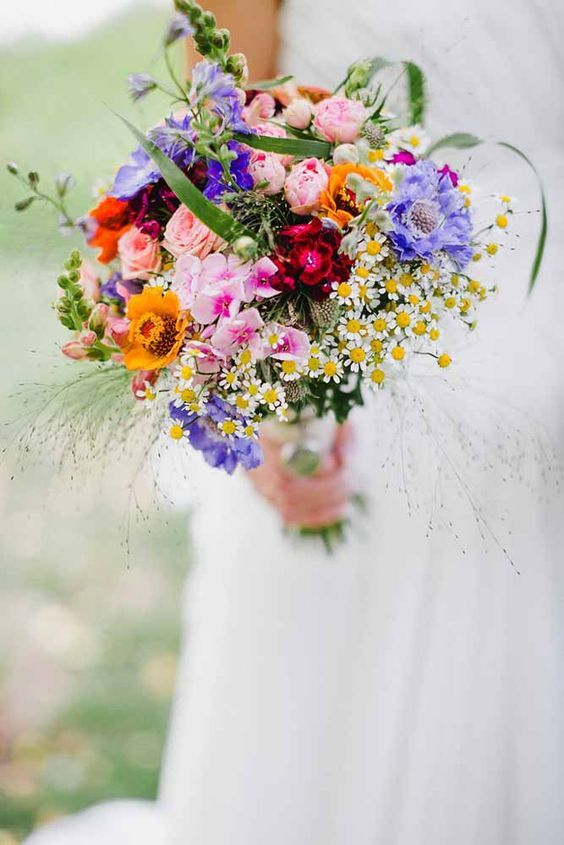 18 Wildflower Wedding Bouquets Not Just For The Country See More Http
