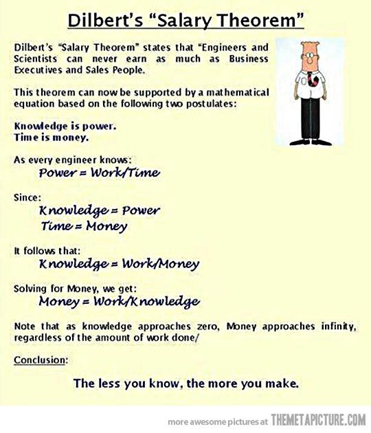 Dilbert's salary theorem…The math checks out...mother of god...