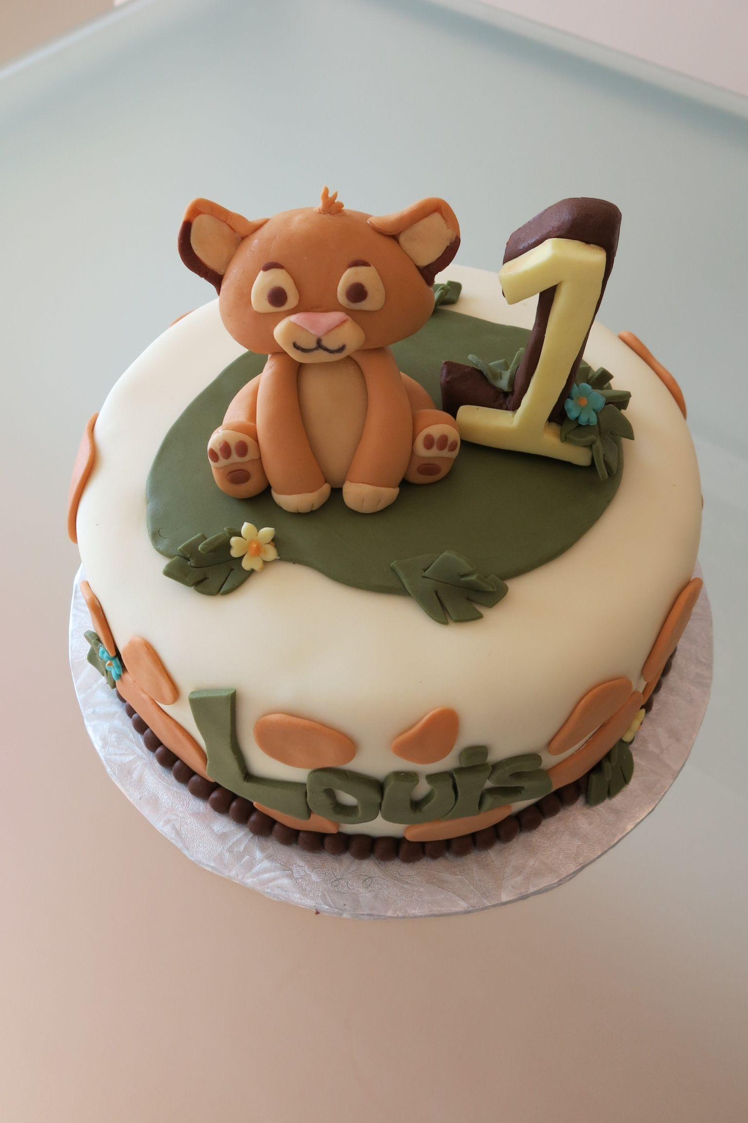 1st Birthday Baby Lion King Cake ashton Pinterest Lion king