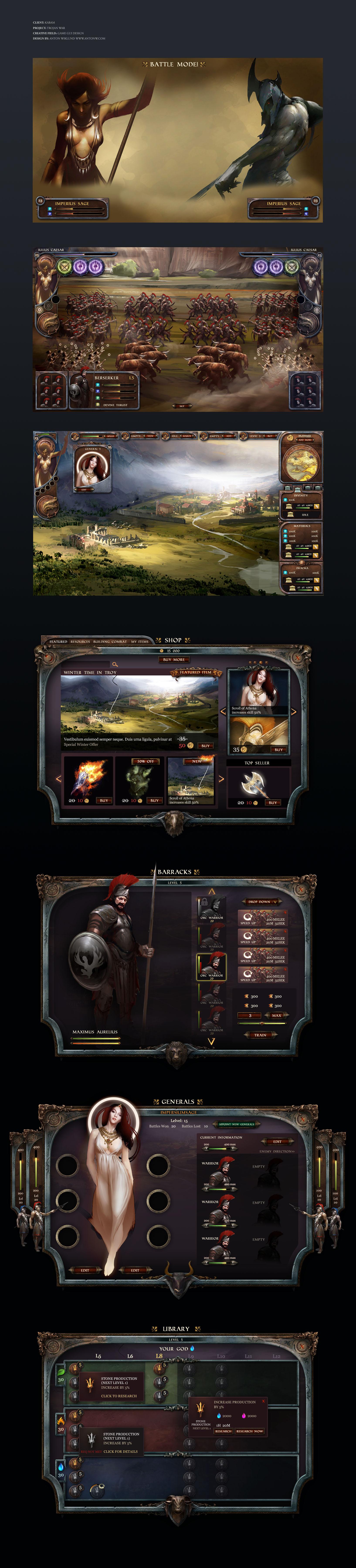 Trojan War - Web Browser Game by karsten   Game ui   Game ...