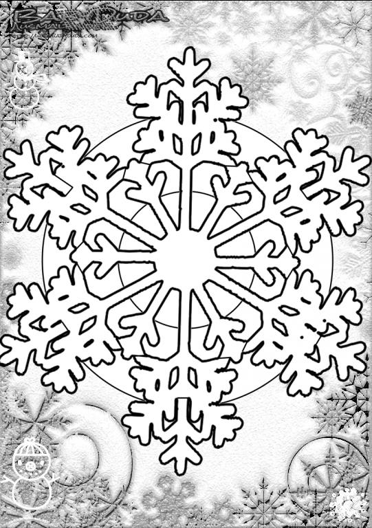 Großartig Schneeflocke Mandala Malvorlagen Fotos ...