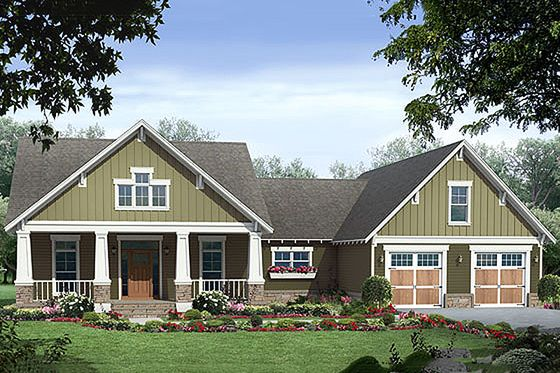Craftsman Style House Plan 3 Beds 2 5 Baths 2067 Sq Ft Plan 21 248 House Plan Gallery Craftsman Style House Plans Cottage House Plans