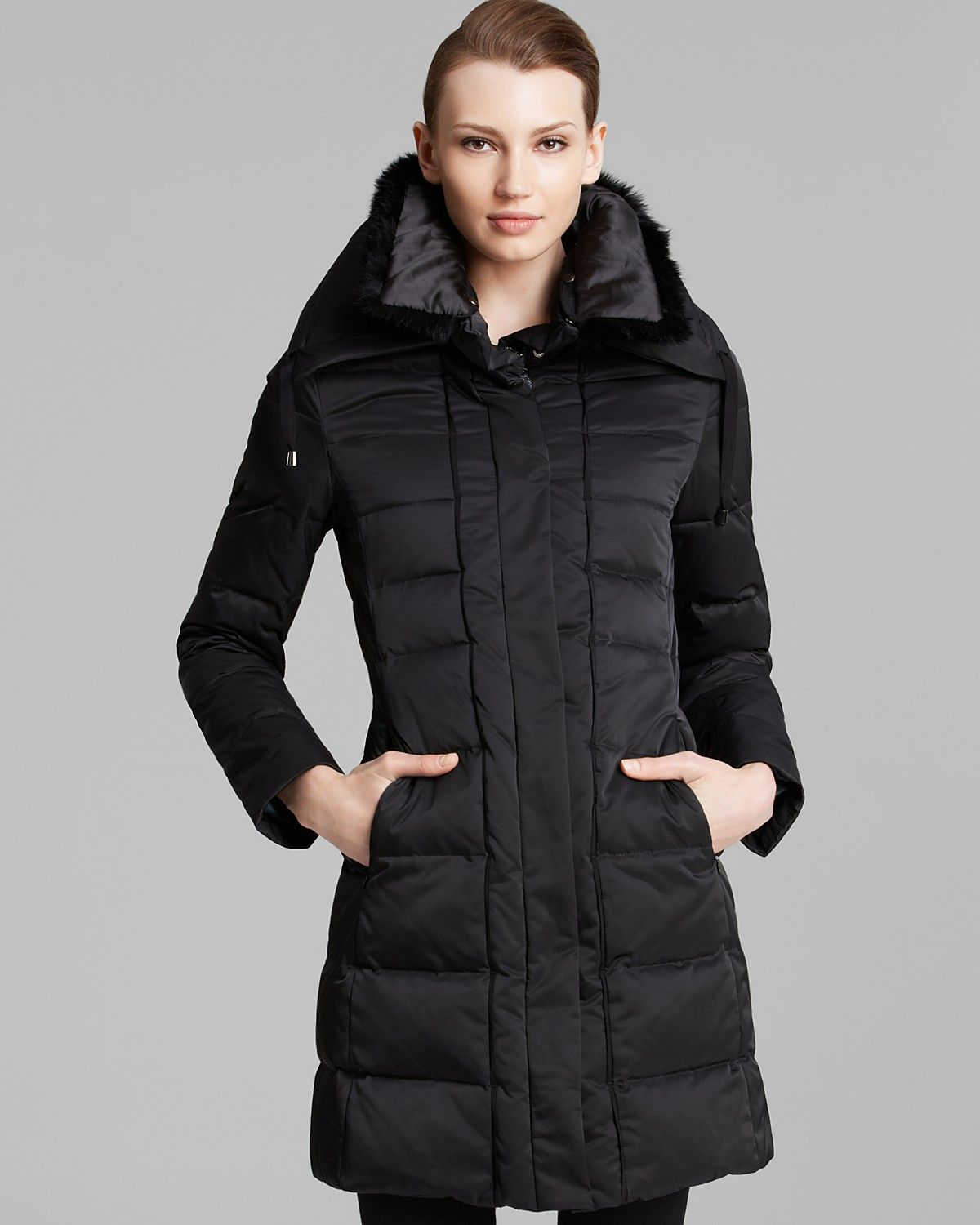 e864a78cdf Elie Tahari Down Coat with Fur Collar | Bloomingdale's | Love, for ...
