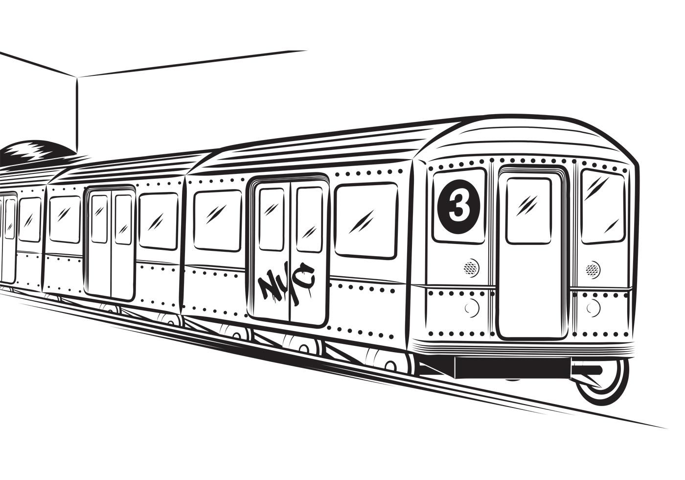 Free Subway Vector In 2020 New York Subway Nyc Subway Nyc Train