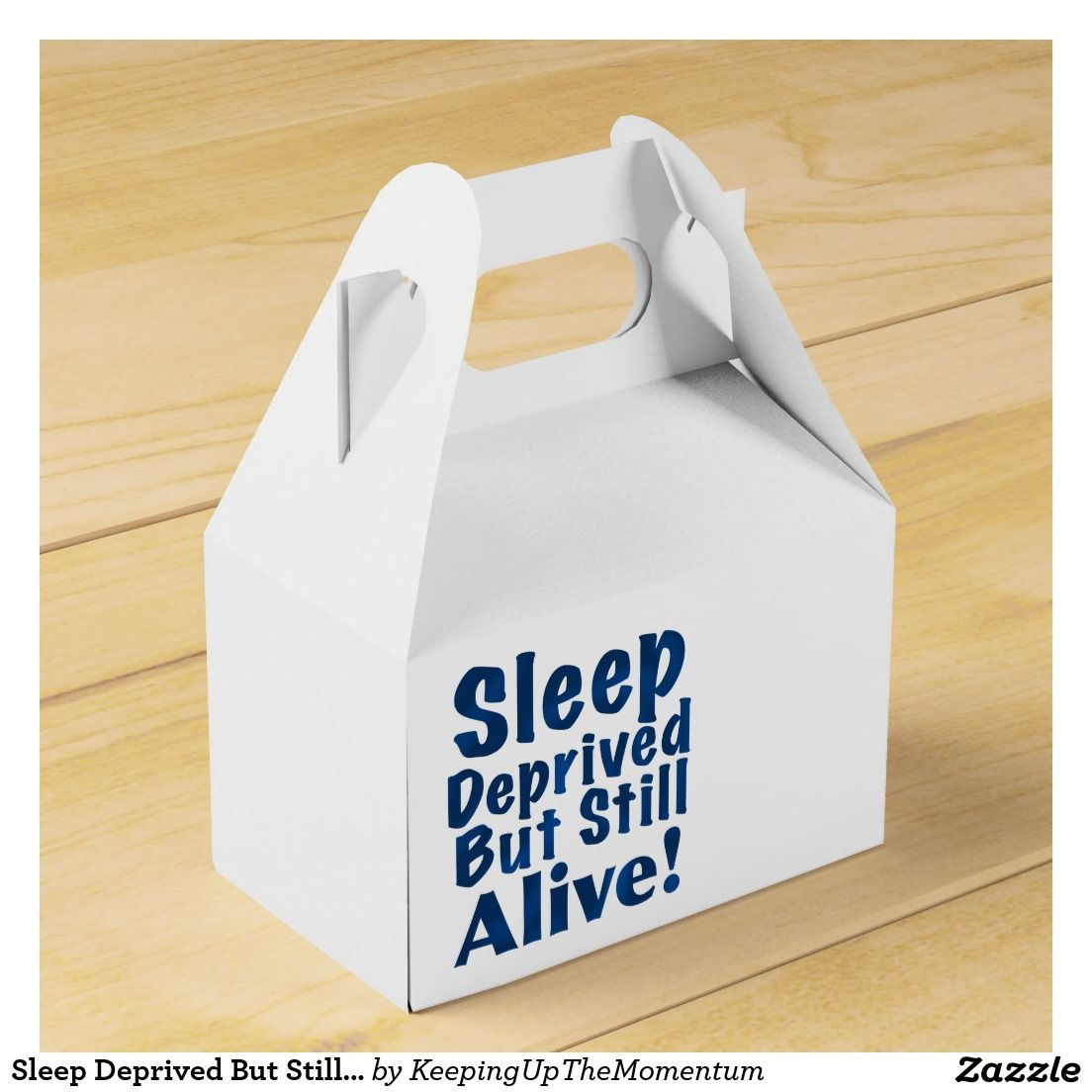 Sleep Deprived But Still Alive in Dark Blue Favor Box | Dark blue