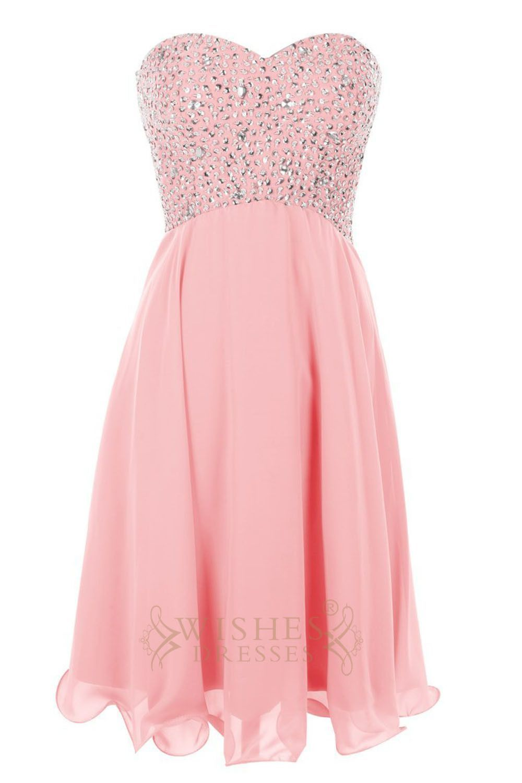 Beaded Bodice Pink Short Prom Dress/Cocktail Dress Am49   Short ...