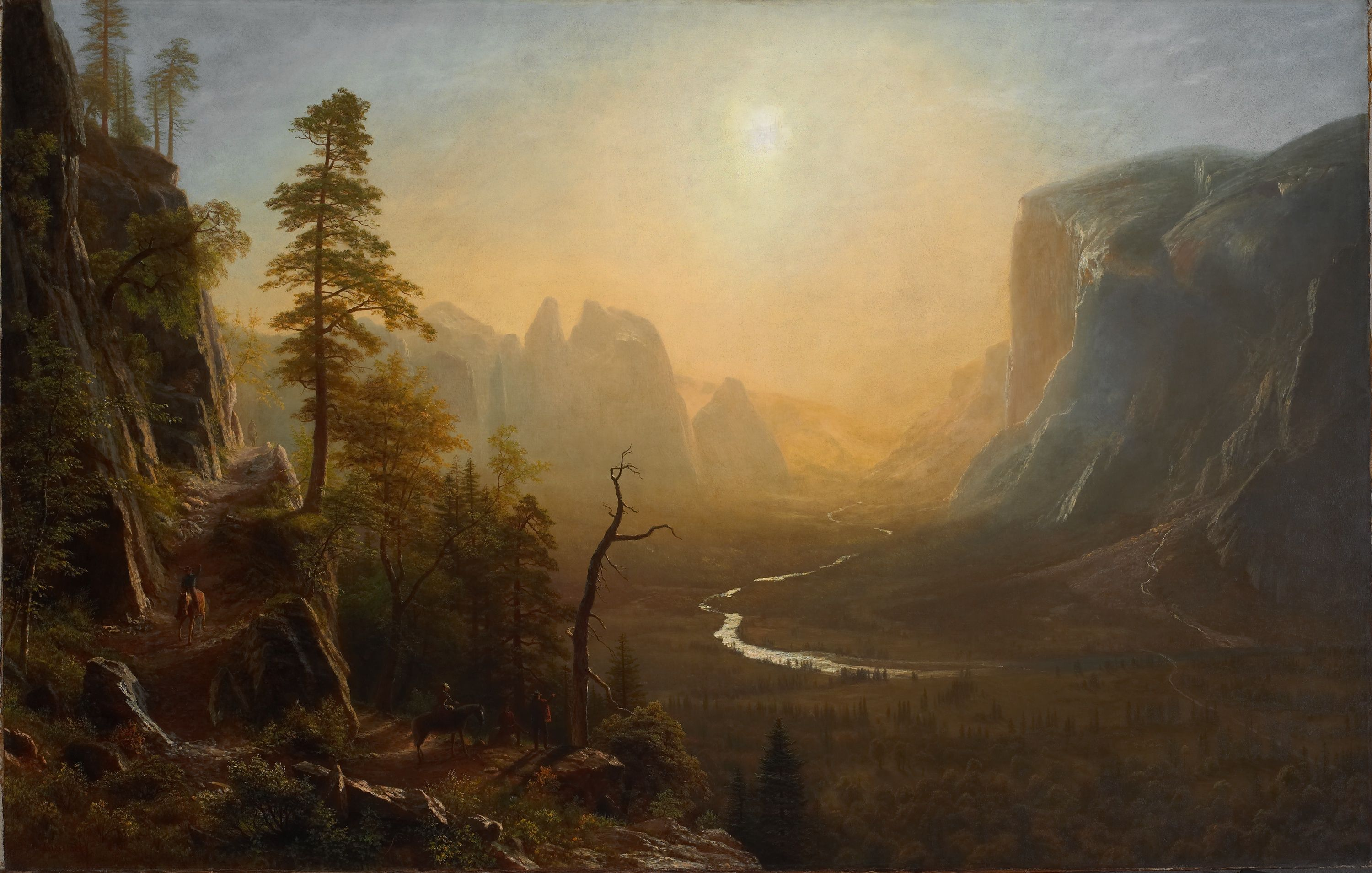 Yosemite_Valley_Glacier_Point_Trail_by_Albert_Bierstadt