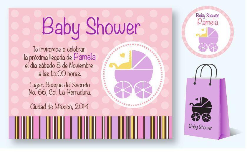 Paquete De Invitaciones Para Baby Shower Invitaciones Con Diseño