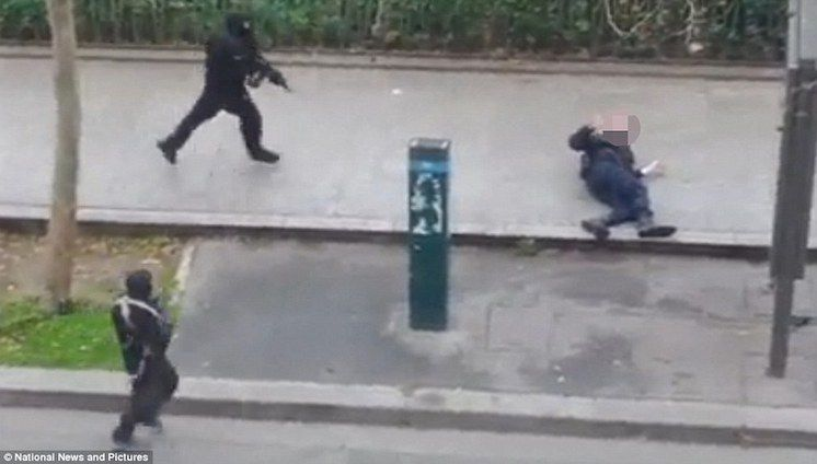 Watch: Slow Motion Footage Of Paris Officer Being Shot Shows No Recoil, No Blood, No Body Movement!