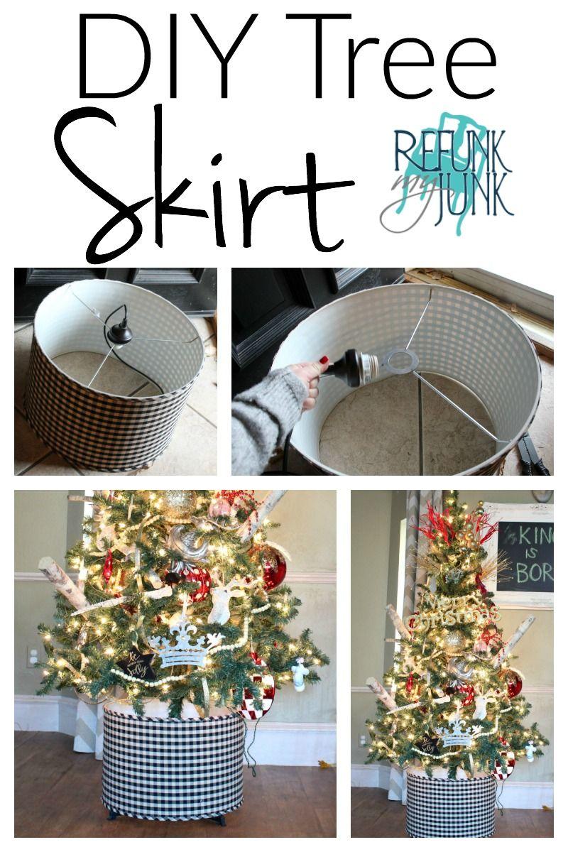 6 00 Diy Tree Skirt Alternatives Refunk My Junk