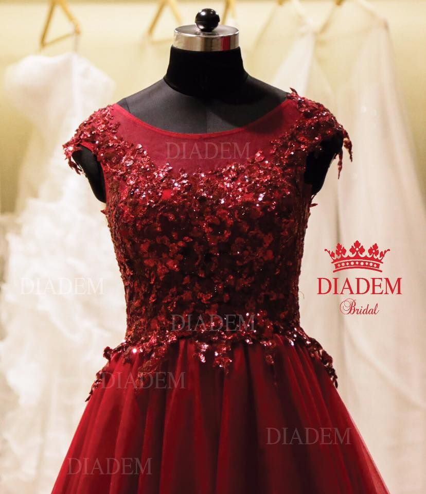 Look Ravishing In This Red Wine Colour A Line Gown For Your Dream Wedding Gown Reception Gown And Saree Blouses Che A Line Gown Reception Gown Wine Red Color