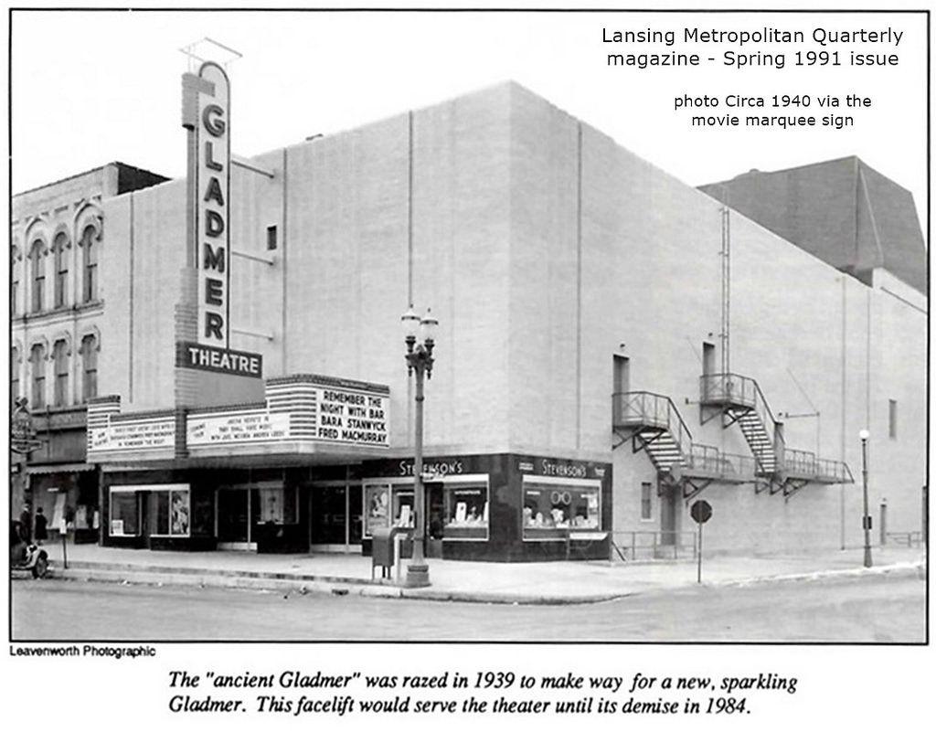 Gladmer theatrebuilt 1939from spring 1991 magazine