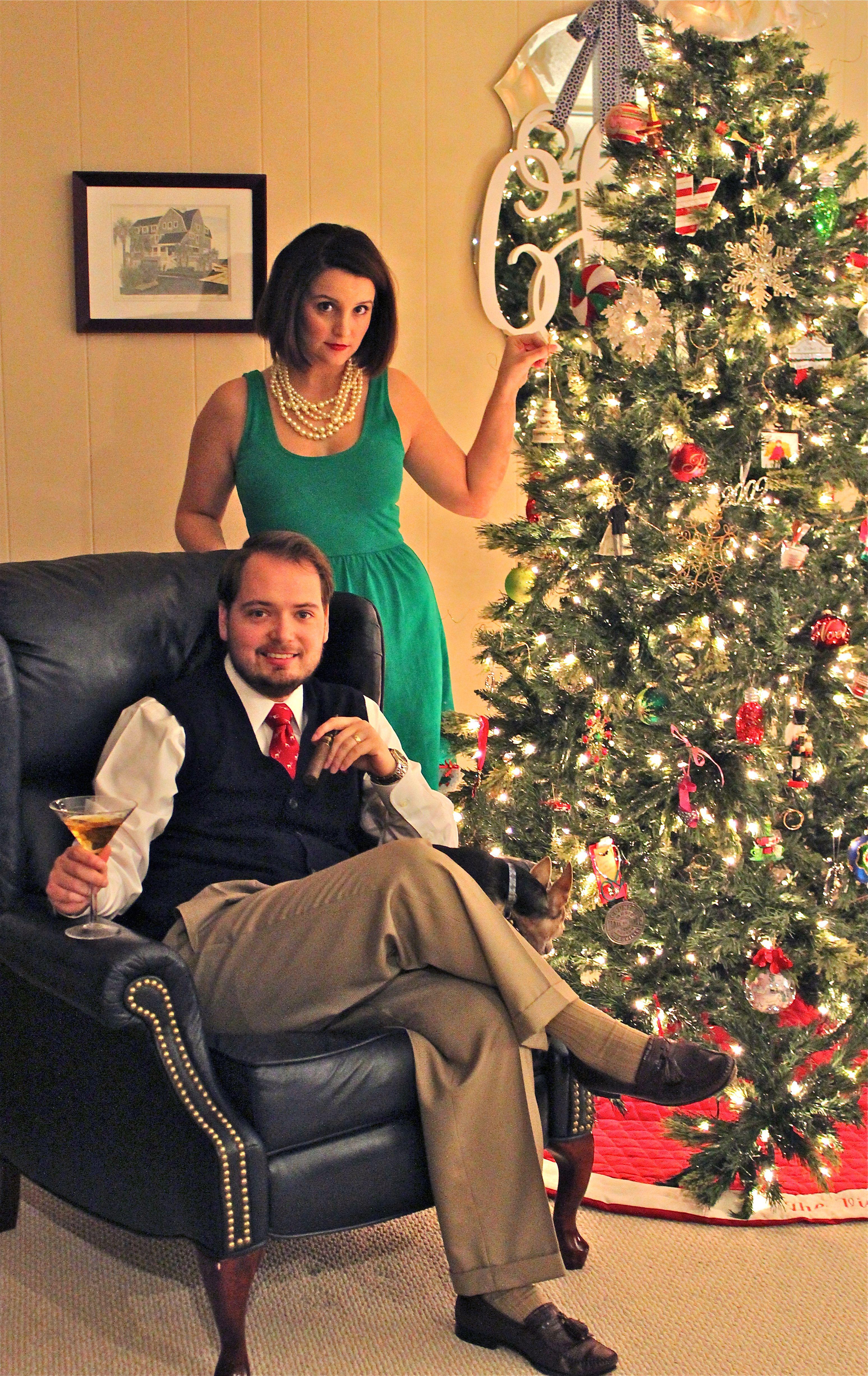 Mad men christmas card couple christmas card idea