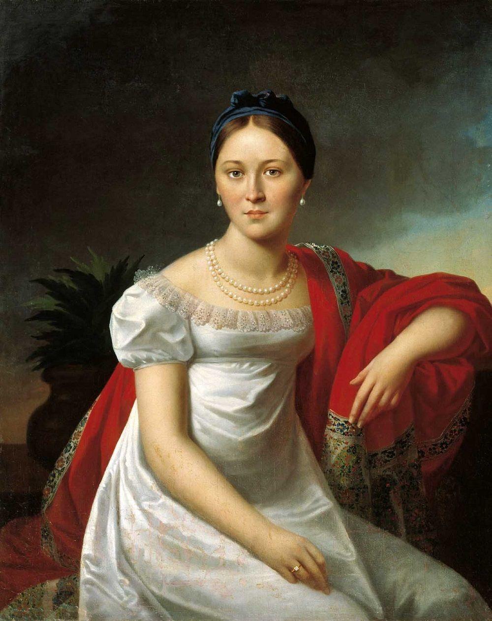 Олешкевич Иосиф Иванович [1777—1830] Портрет молодой женщины. 1810-е