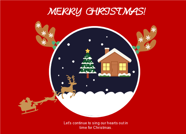 The Red Background Reindeers Christmas Card Template Is Made By The Edraw Graphics Team Fo Birthday Card Messages Birthday Messages Birthday Message For Friend