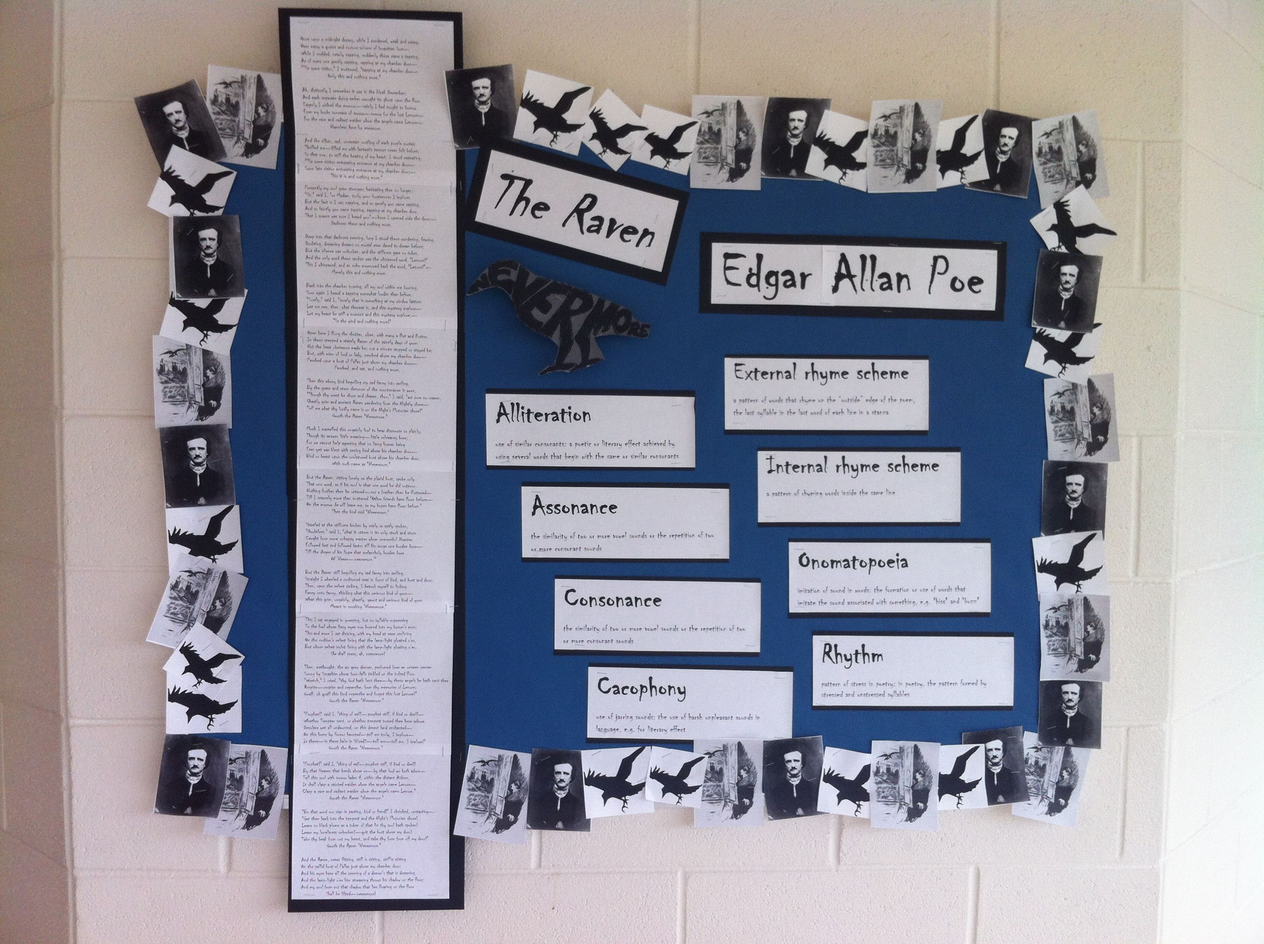the raven edgar allan poe high bulletin board ideas