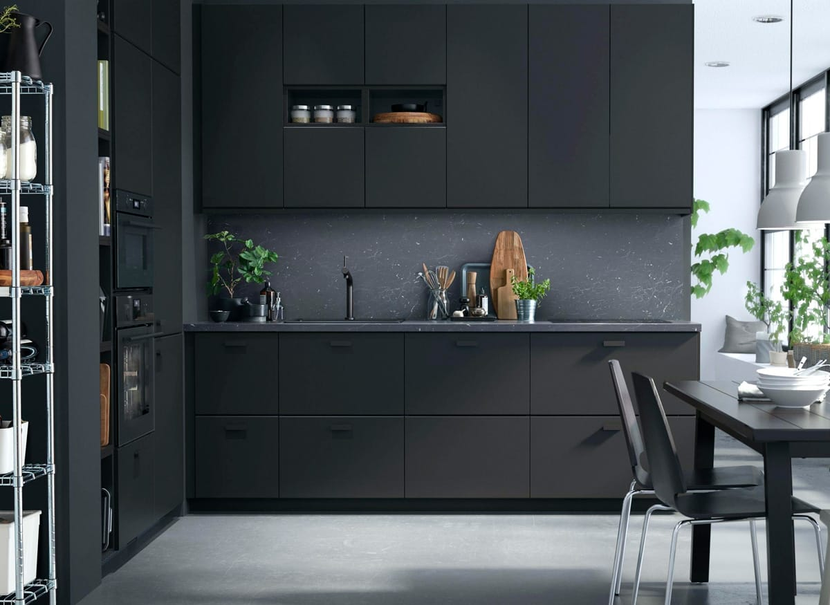 Cucina Nera Idee Eleganti E Moderne Per La Casa Tende Da