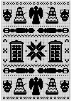 Fair Isle cross stitch patterns from traditional to pop culture ...