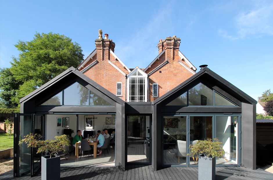 Best Yard Architects Contemporary Rear Extension With Pitched 640 x 480