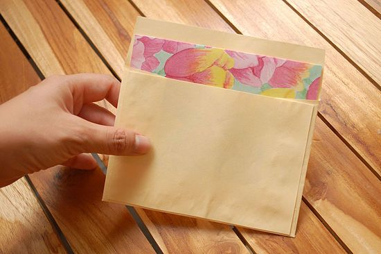 How to Make a Greeting Card Envelope: 12 Steps - wikiHow Just used this to make an envelope for a half sheet sized card. Didn't want to lose the tutorial for next time!