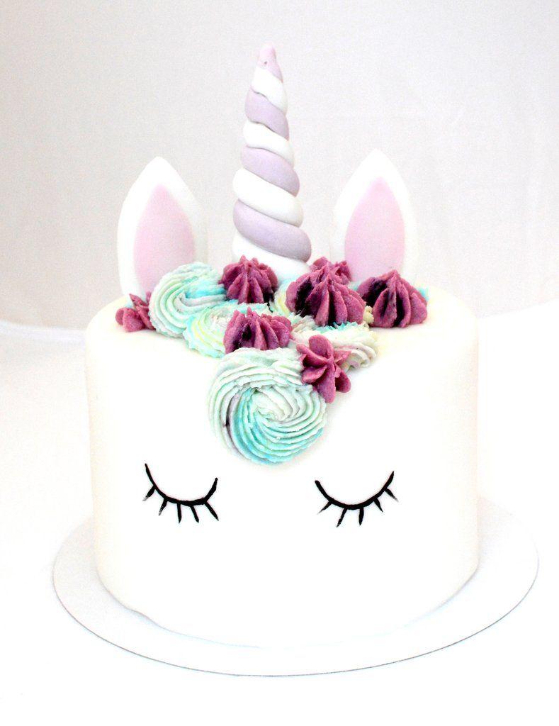 G teau unicorn face treats by snoopy pinterest cake chocolat vanille et mod le - Gateau anniversaire facile fille ...