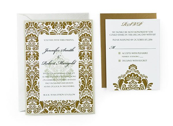 Damask - Free Wedding Invitation Template wedding invites - wedding announcement template