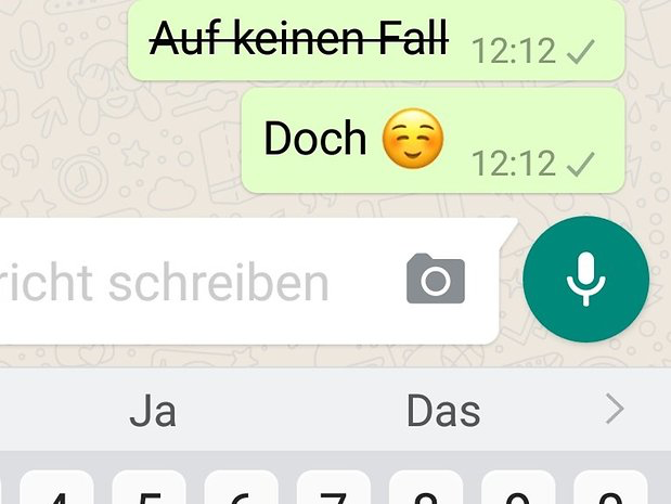 Whatsapp Tricks Schrift