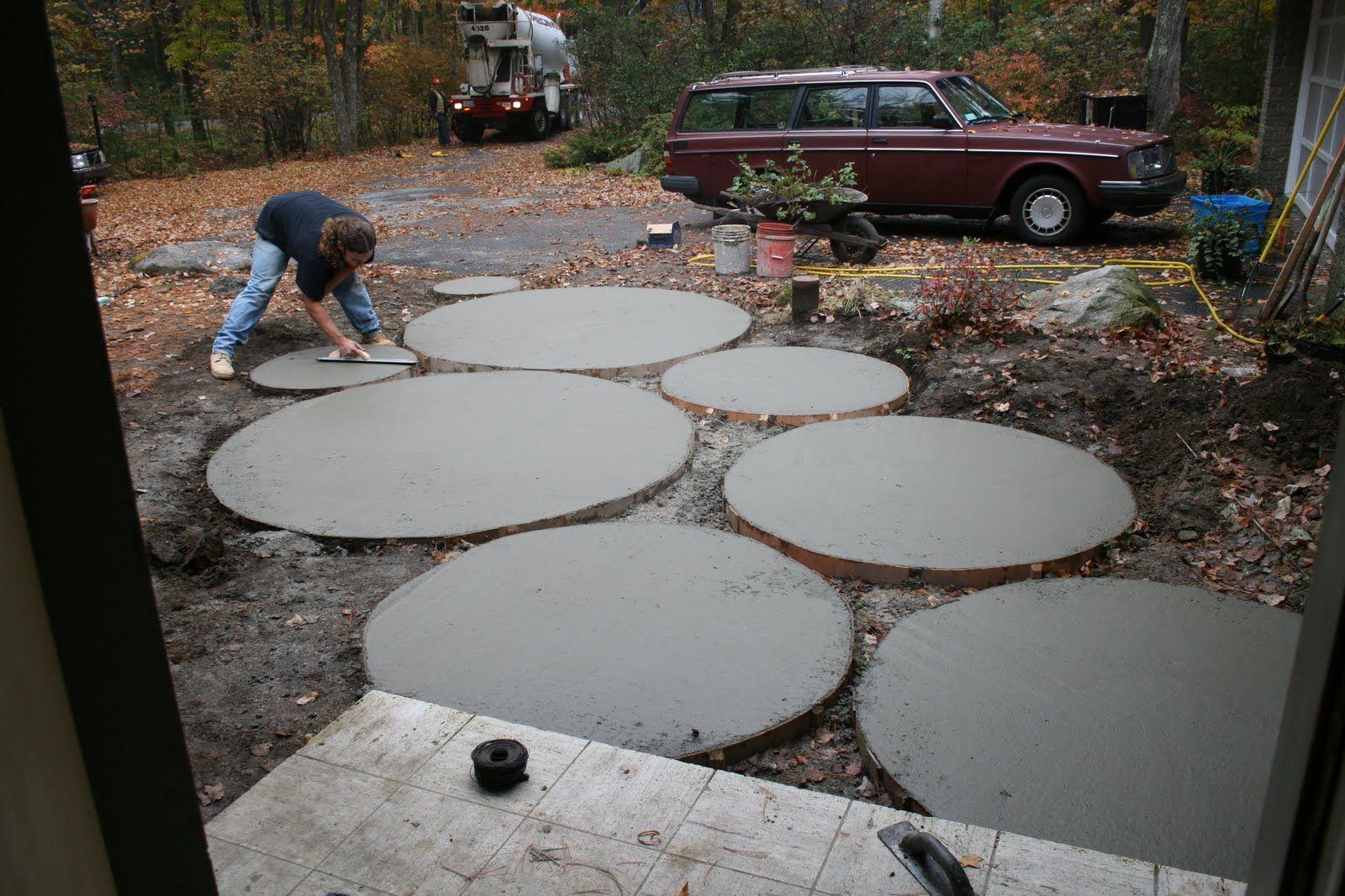 Jenn Ski Circles 2 Jpg 1600 1067 Diy Concrete Patio Circle