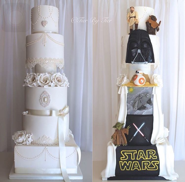 Special Designed Wedding Cake Star Wars Theme Star Wars Wedding Cake Star Wars Wedding Theme Star Wars Wedding