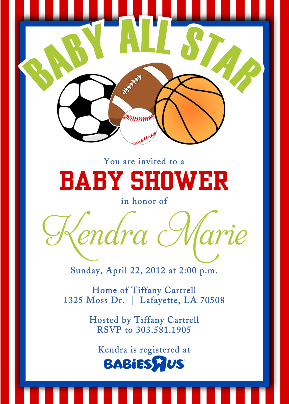 Cool Free Template Sport Themes Baby Shower Invitations Bagvania