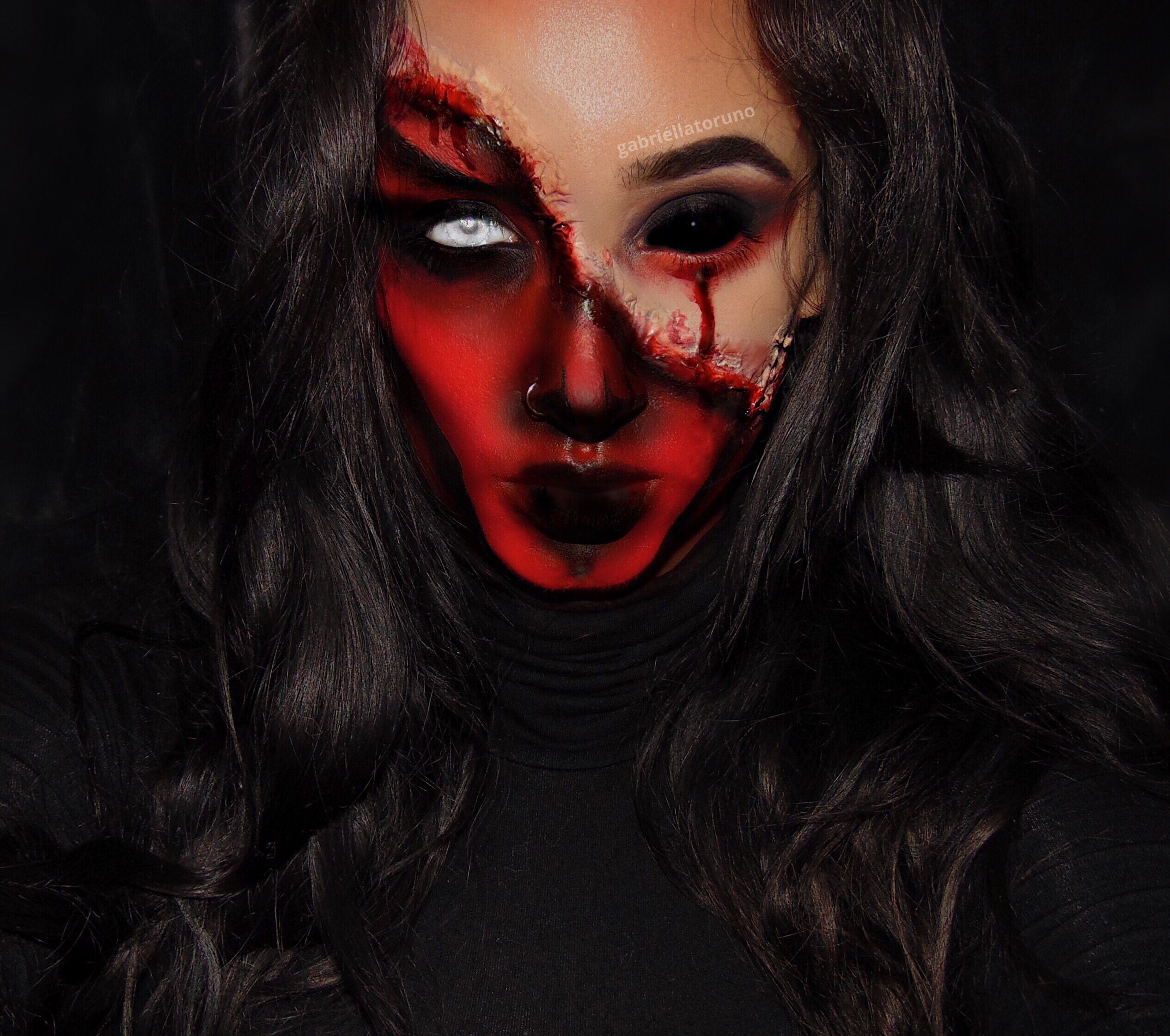 Gabriella Toruno Halloween Makeup Scary Demons Halloween Makeup Amazing Halloween Makeup