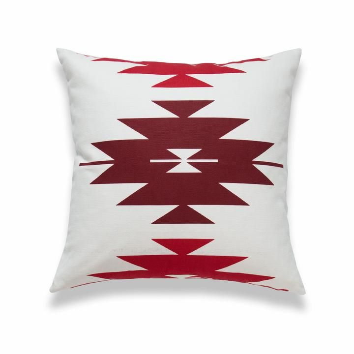 Hofdeco Aztec Print Pillow Cover, Diamond, Dark Red, 18x18 #aztec