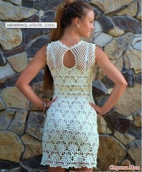 Como hacer vestidos crochet mujer