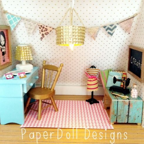 PaperDoll Designs: Dollhouse Makeover: The Craft Room!