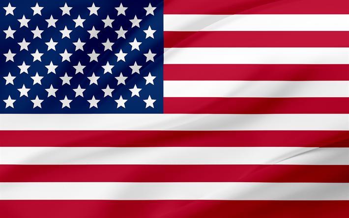 Download Wallpapers Us Flag 4k American Flag Usa Flag Of Usa Besthqwallpapers Com American Flag Wallpaper American Flag Flags Of The World