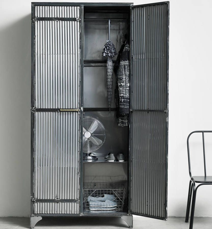 Industrial Corrugated Iron Wardrobe Industrial Bedroom Furniture