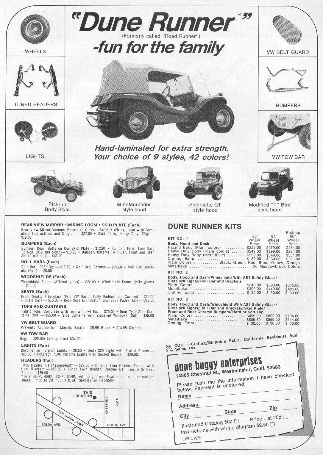Original Vw Dune Buggy Ad