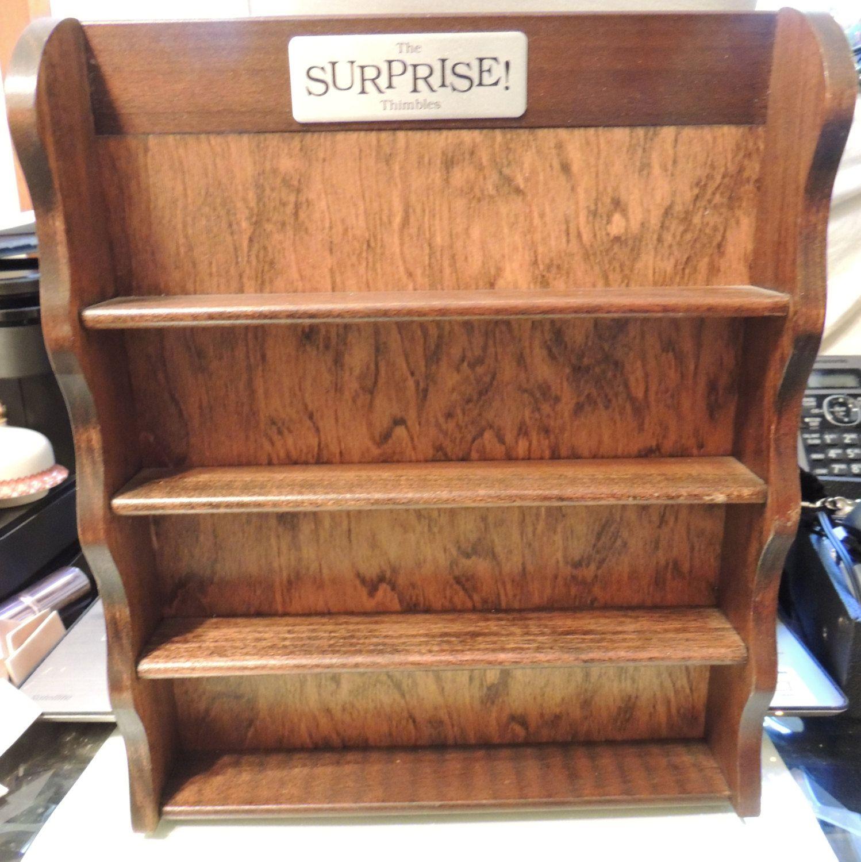 SPRING PRICE BREAK Thimble Display Cabinet Shelf Vintage | Display ...