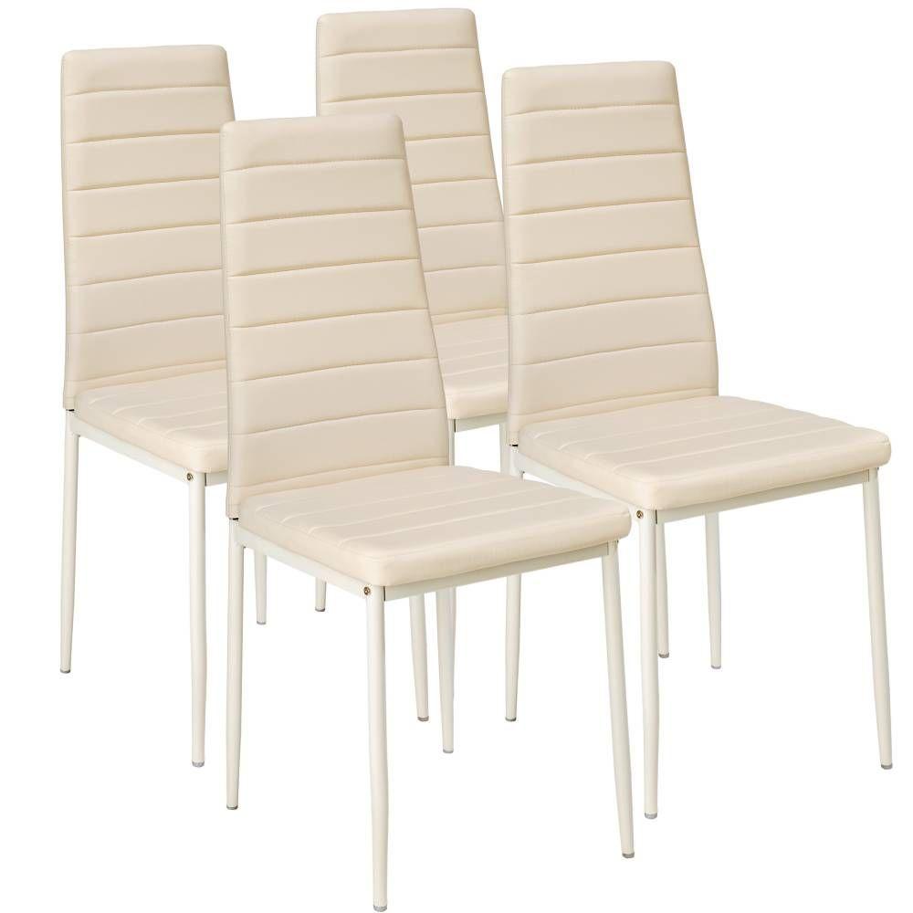 4 Esszimmerstühle, Kunstleder