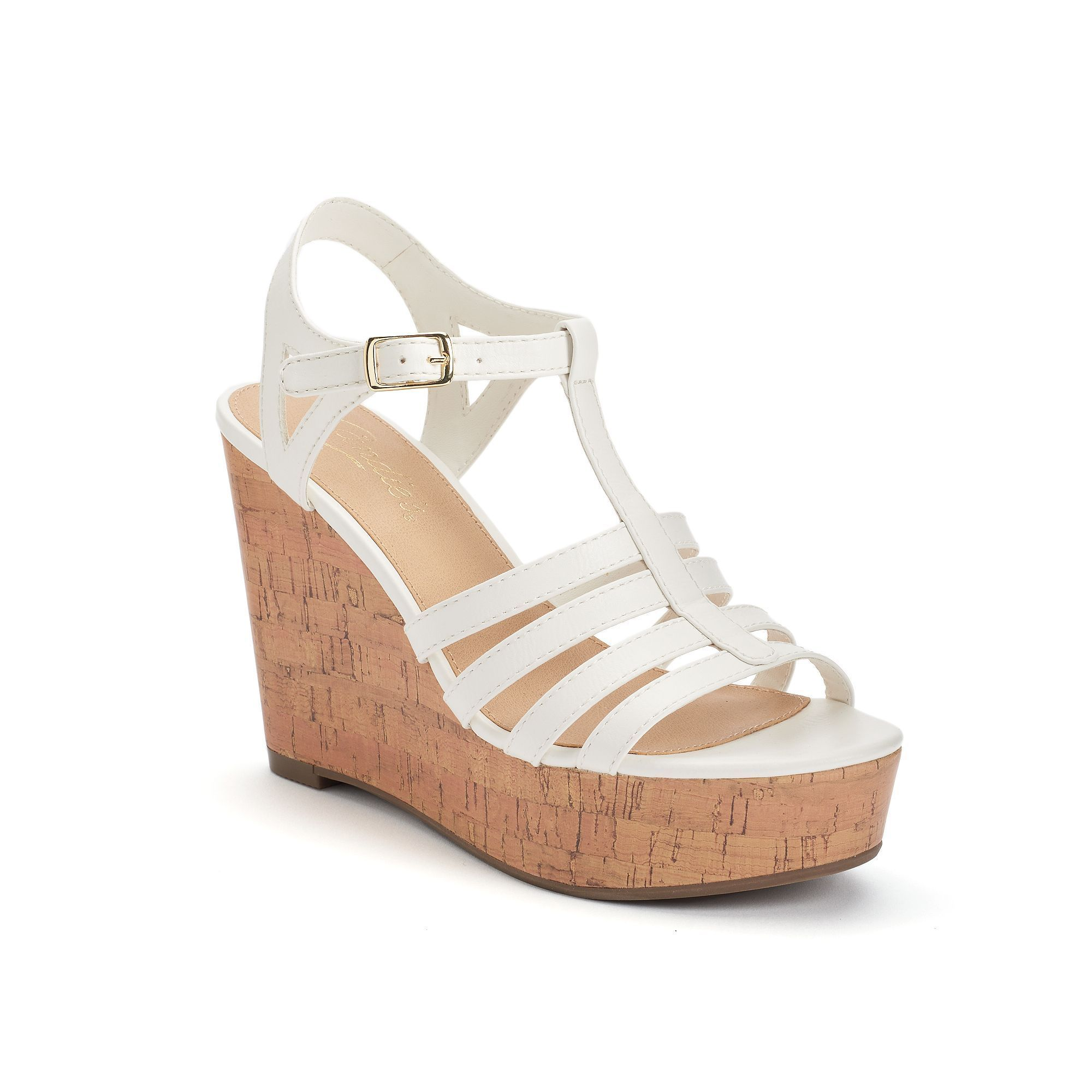 Womens Steve Madden  NIB P-Turn Beige Wedge Sandals 10 M..39