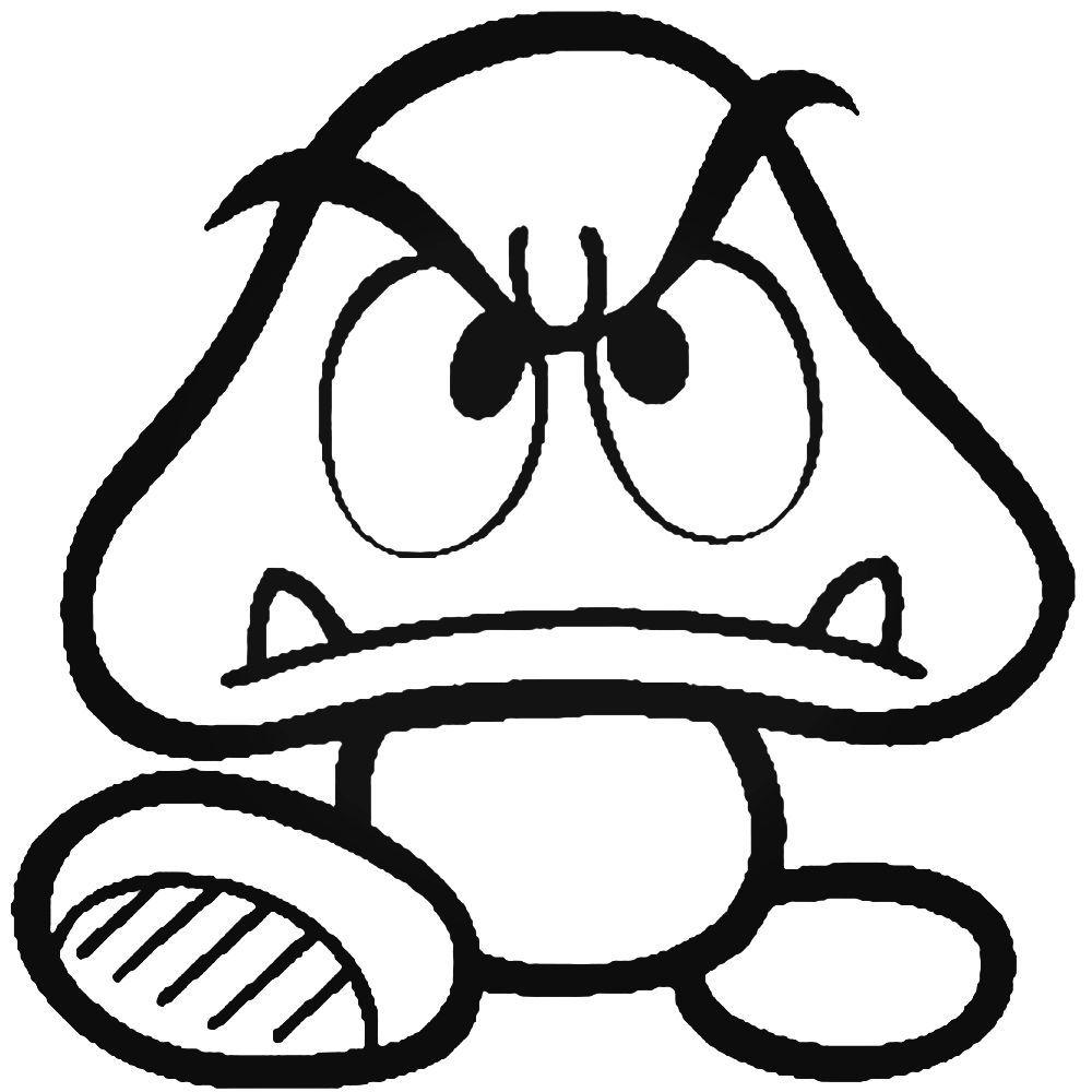 Goomba Super Mario Bros Nintendo Vinyl Decal Sticker