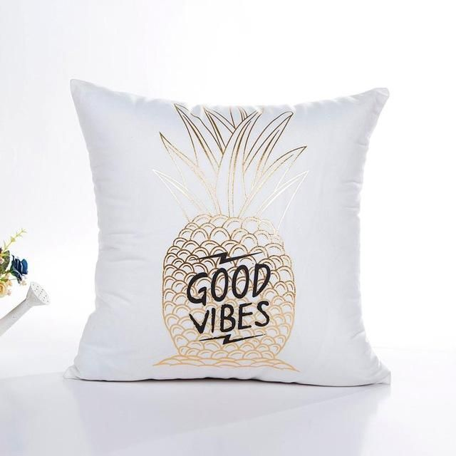 Soft Pillow Cover Gold Foil Printing