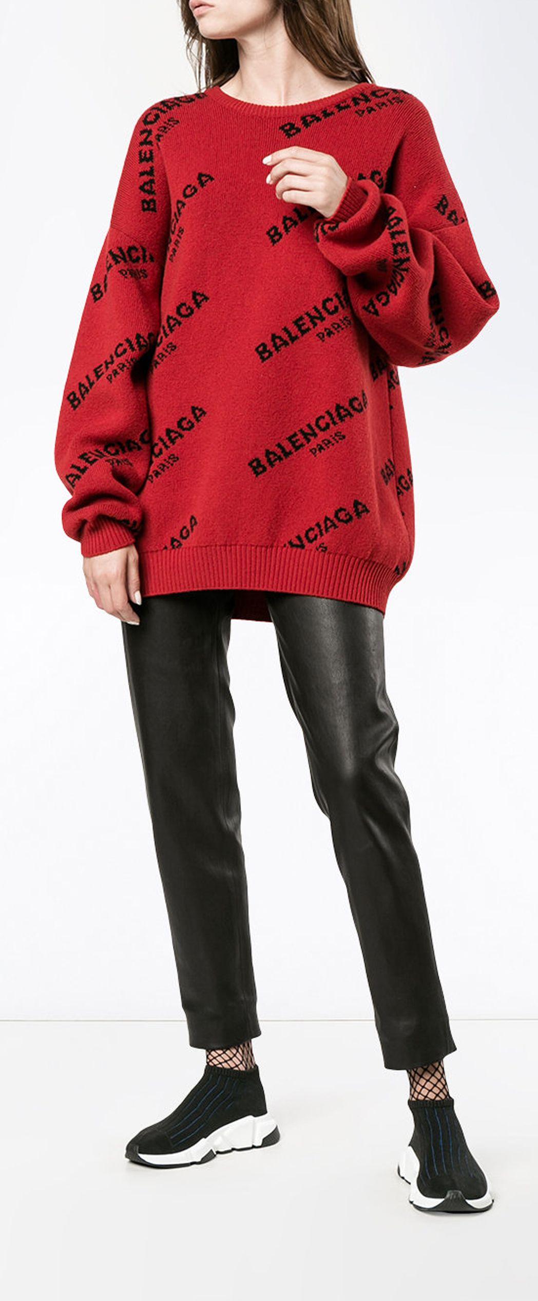 564712974b1544 BALENCIAGA logo jumper, explore new season Balenciaga on Farfetch now.