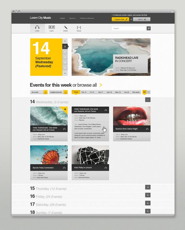 20 Gorgeous Examples Of Web Design Inspiration Part 2 Modern Web Design Professional Web Design Web Development Design