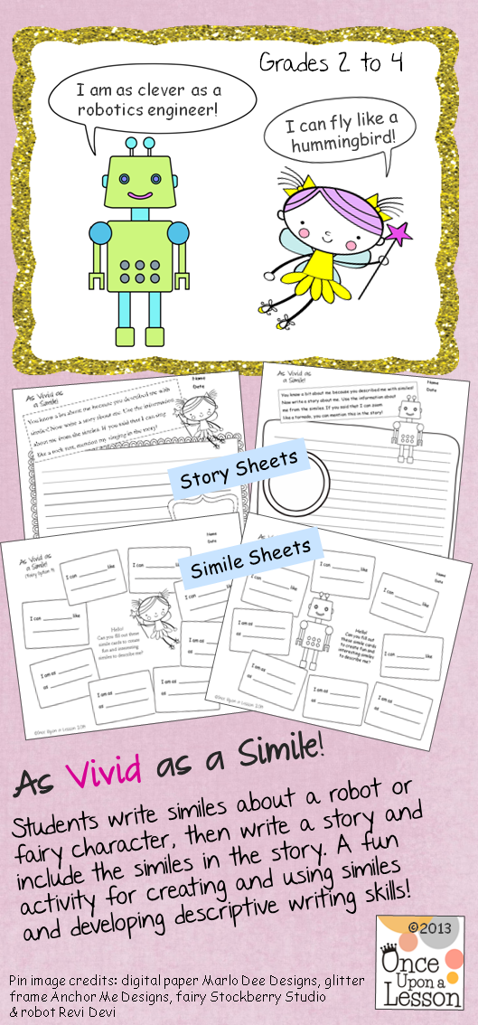 Boost Students Descriptive Writing Strategies With Practice And Using Similes Grades 2 To 4 Adaptable For 5 6