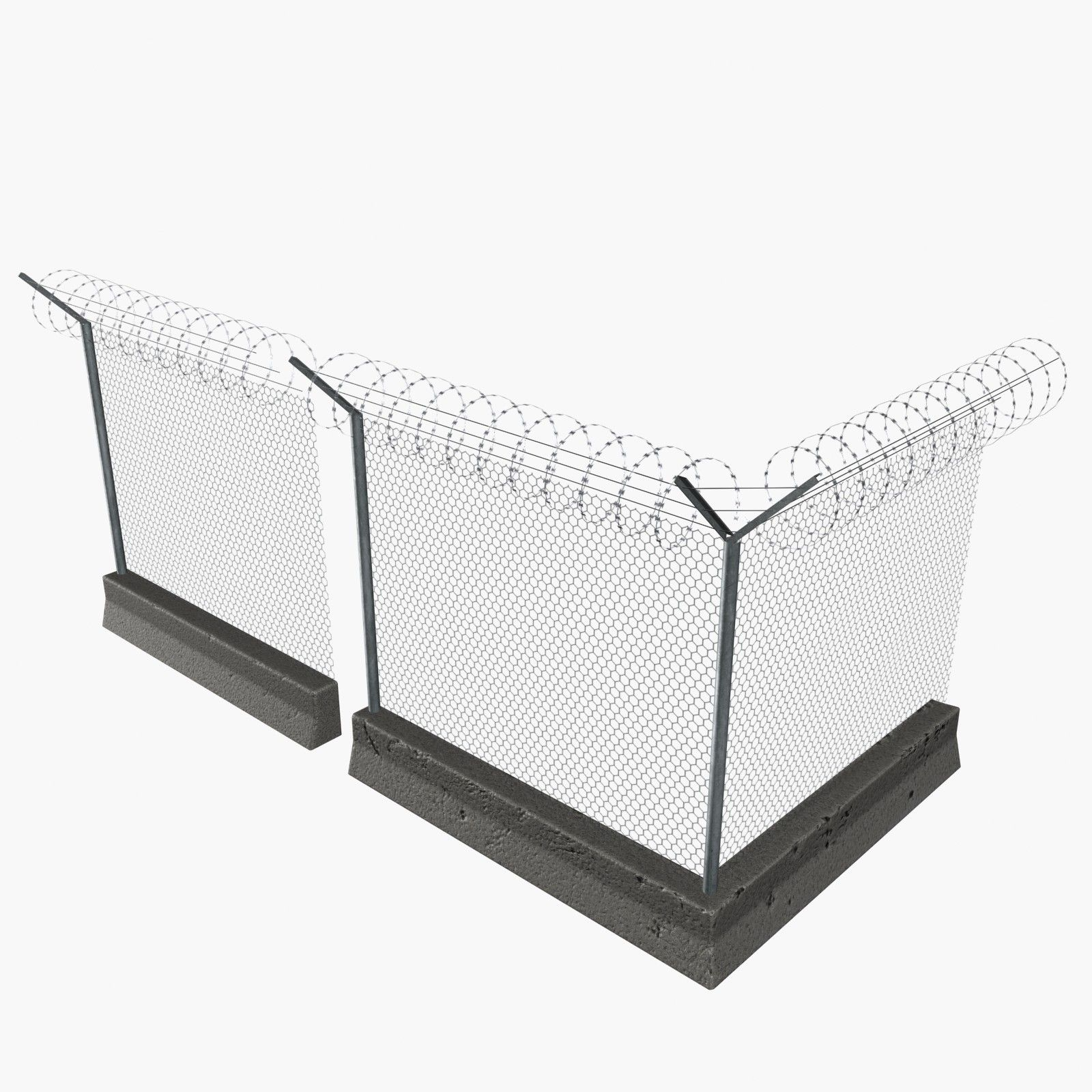3D Modular Concrete Wire Fences Model - 3D Model | 3D-Modeling ...