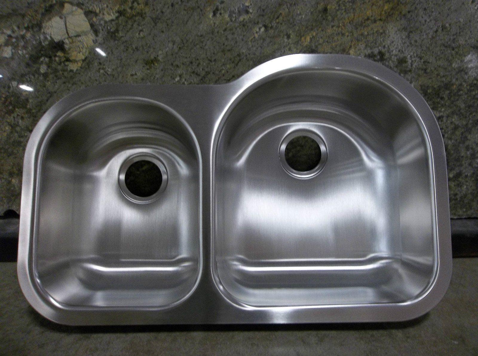 Elkay Revere NCFU 3119L 30/70 Undermount Stainless Steel 18 Gauge Double  Bowl Kitchen Sink